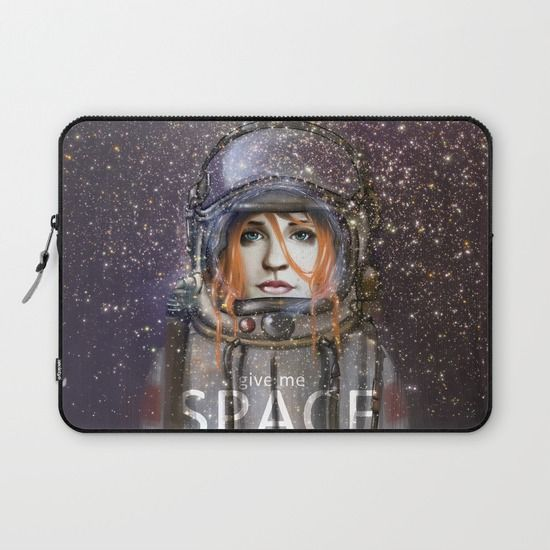 """LAPTOP SLEEVES/ LAPTOP SLEEVE - 13"""" Give me Space (Girl) by Fla'Fla' $36.00  DESCRIPTION Protect your laptop with a unique Society6 Laptop Sleeve.  Our form fitting, lightweight sleeves are created with high quality polyester - optimal for vibrant color absorption. The design is printed on both sides to fully showcase the artwork while keeping your gear protected. Pulling back the YKK zipper, you'll find the interior is fully lined with super soft, scratch resistant micro-fiber."""