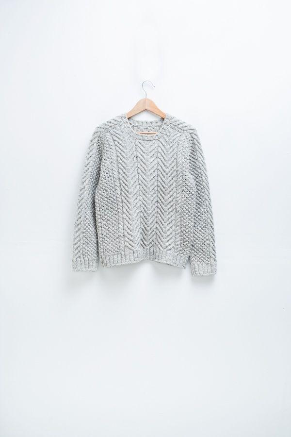 Cordova cabled raglan pullover ($8.00)