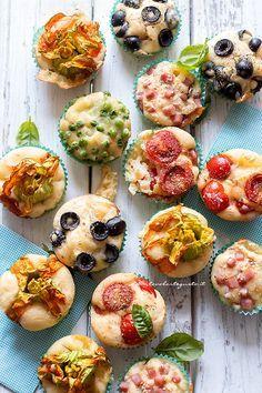 Muffin salati (1 solo impasto mille gusti diversi ) - Ricetta Muffin salati