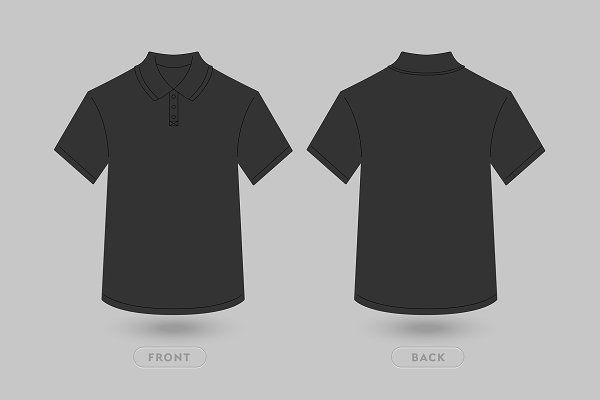 Polo T Shirt Vector Mockup Dengan Gambar Baju Kaos Kaos T Shirt