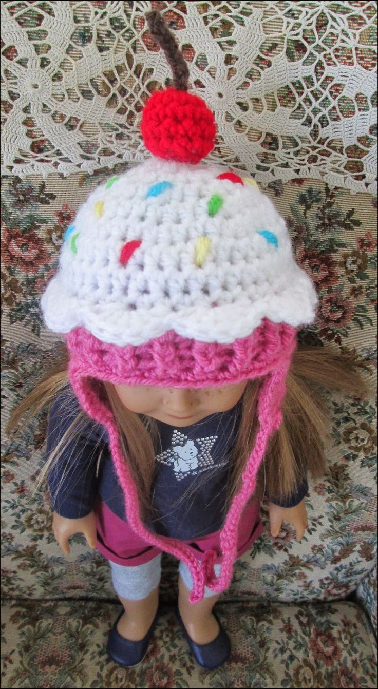 Made by Cute Stuff Inside - Crochet Cupcake Hat - Free Pattern from Repeat Crafter Me - Vanna's Choice Yarn