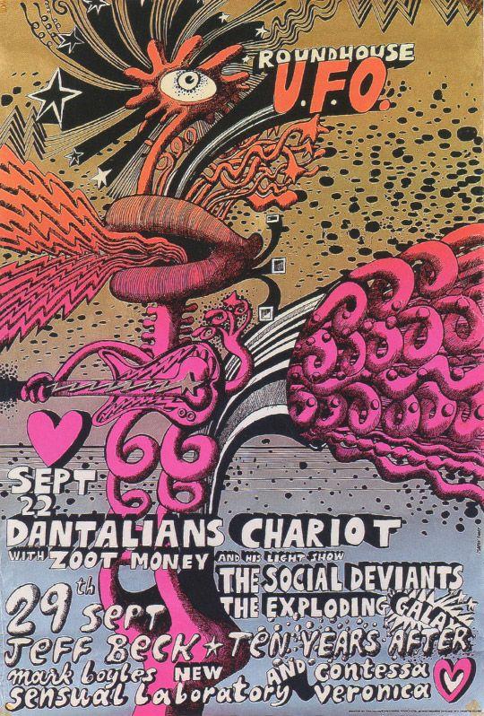 'Dantalians Chariot' - Silkscreen poster on foil 1967