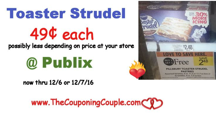 Cheap Toaster Strudel @ Publix with New Printable now thru 12/6 or 12/7. Print your coupons and grab this sweet deal this week folks! **  Click the link below to get all of the details ► http://www.thecouponingcouple.com/cheap-toaster-strudel-publix-with-new-printable/ #Coupons #Couponing #CouponCommunity  Visit us at http://www.thecouponingcouple.com for more great posts!