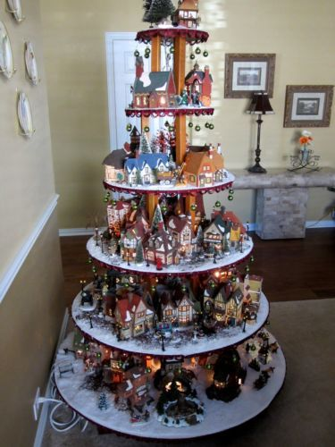 how to build a village house display stand dept 56 lemax christmas halloween christmas pinterest christmas christmas villages and