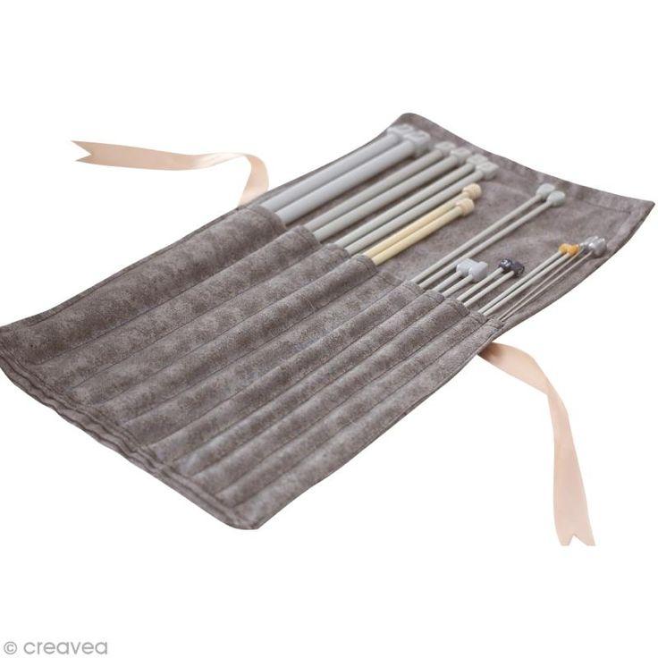 DIY Pochette aiguilles à tricoter