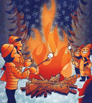 how to build the proper bonfire, recipes, safety, bonfire songs