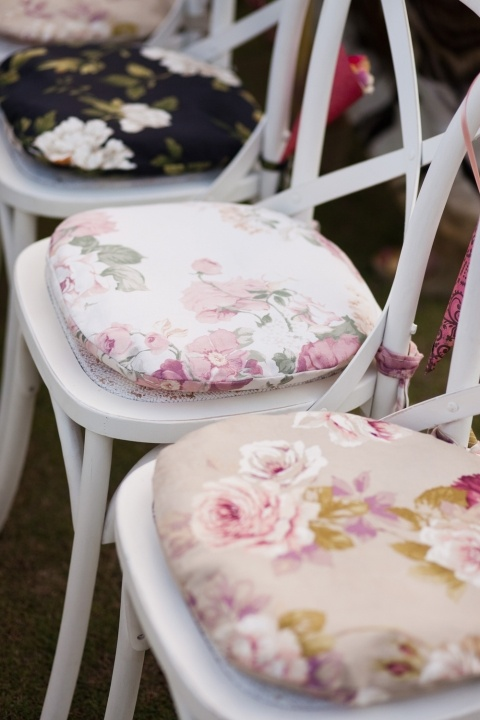 Lovely floral seat pads - ideal for summer garden furniture