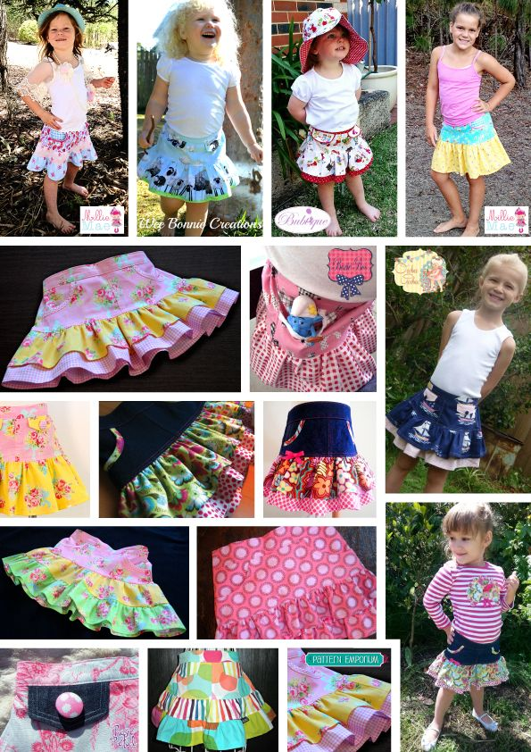 Lots of gorgeous little Ruffle Flip Skirts