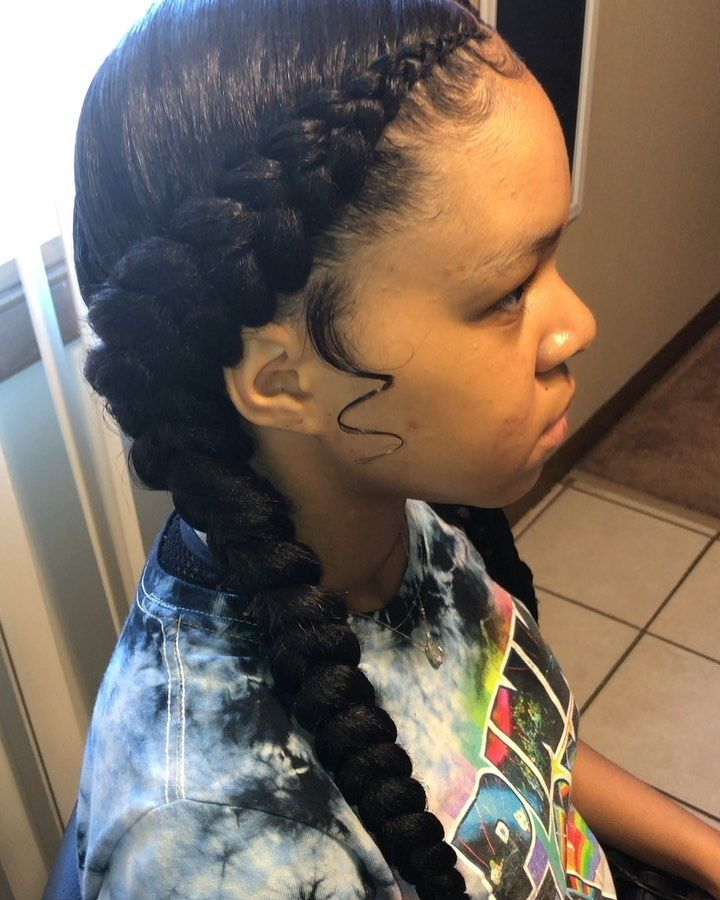 Chicago Hairstylist On Instagram 2 Braids 2braids Braids Stitchbraids Fe Feed In Braids Hairstyles Two Braid Hairstyles Girls Hairstyles Braids