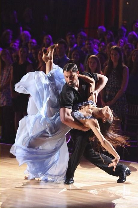 "Maks Chmerkovskiy & Meryl Davis foxtrot to John Legend's ""All of Me""  -   ABC's 'Dancing With The Stars'  -   week 3 of  -  season 18  -  March 31, 2014  -  score  10+9+10+10 =39  of 40 possible points   -  guest judge GMA's Robin Roberts"
