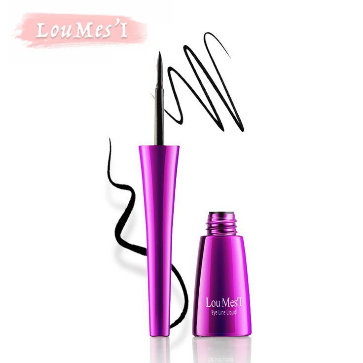 Loumesi eyeliner  Comestics Waterproof Colorful Eyeliner Liquid Make Up Eye Liner Pencil Pen Women Black Fashion Eyes