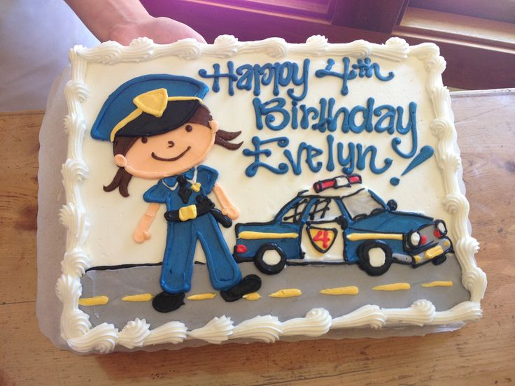Cake Decorating Ideas Police Officer