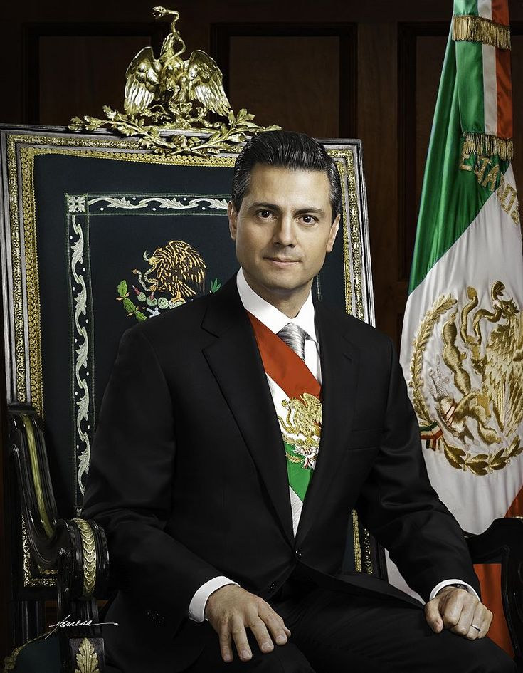 the President of México, Mr Enrique Peña Nieto