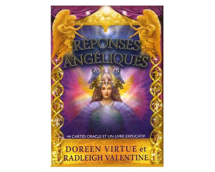 Réponses angéliques, 44 cartes oracle par Doreen Virtue et Radleigh Valentine http://www.librairie-angelique.com/reponses-angeliques-doreen-virtue/ Pour recevoir une réponse toute simple à nos questions. Est-ce oui ou est-ce non, avec ce tout nouveau coffret de cartes oracle.