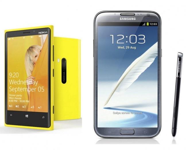 Samsung Galaxy Note 2 Vs Nokia Lumia 920