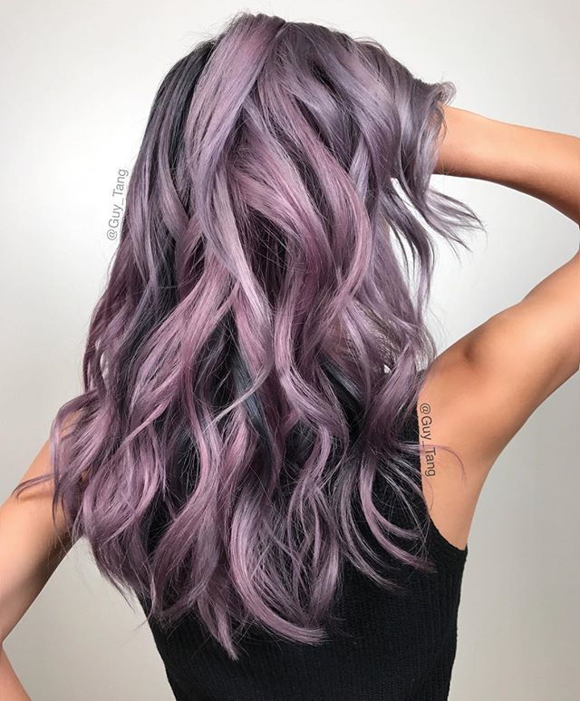 @hairbesties_ from one of my shows a few weeks ago creating a smoked out Metallic Mauve using @kenraprofessional @olaplex see all HairBestiea in Korea this weekend❤️❤️❤️