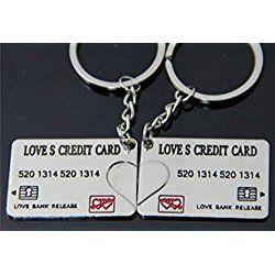 "Liroyal Couple Keychain Keyring --- ""I Love You"" Heart + Key --- Lover Sweetheart Gift for Valentine's Day / Wedding Anniversary / Birthda(1 pair)"