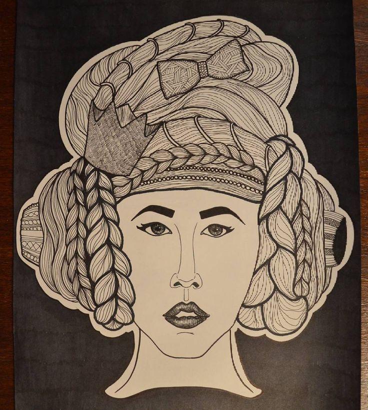 #рисунок #портрет #графика #А3 #вдохновение
