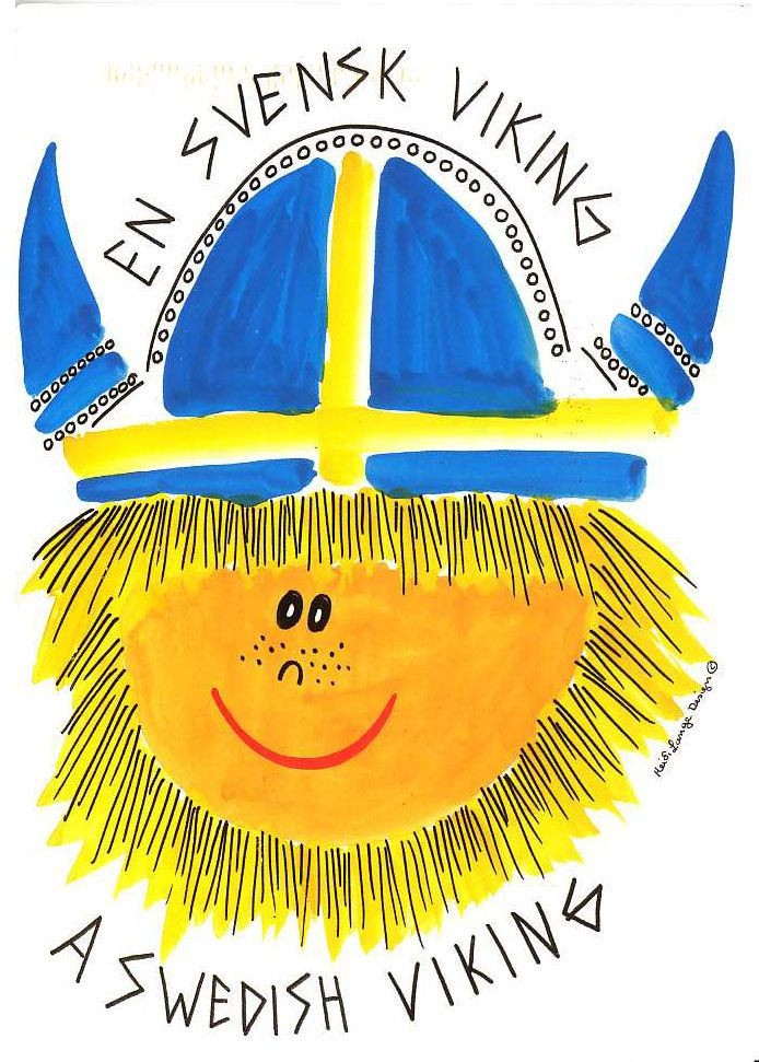 Drawing-A Swedish Viking. So cute!