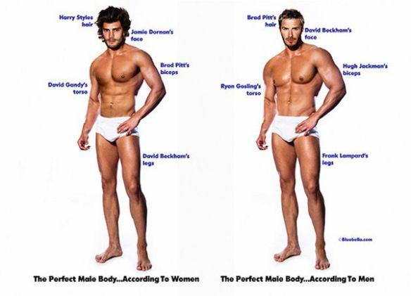 Cosa è la bellezza (5): i corpi perfetti secondo l'opinione delle donne e quella degli uomini
