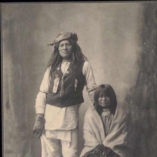 76 - Henry Wilson & Wife, Mojave (Apache) Photos - Native