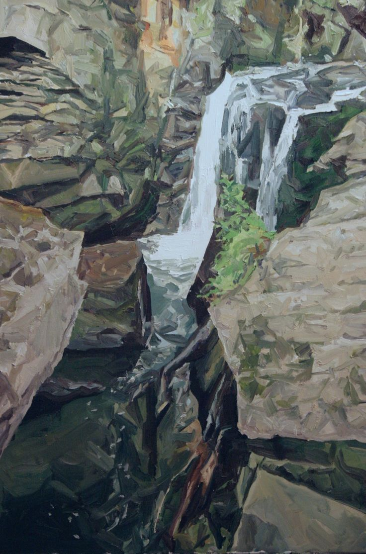 Aberdulais 2 (2016) 91cm x 61cm, oil on linen by Richard Allen
