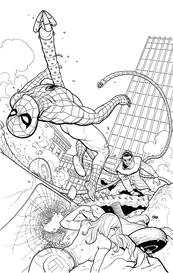 Spidey vs Dr Octopus by Frank Cho