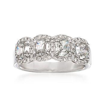Henri Daussi 1.99 ct. t.w. Diamond 4-Stone Ring in 18kt White Gold | #839283 @ ross-simons.com  $4733 www.ross-simons.com