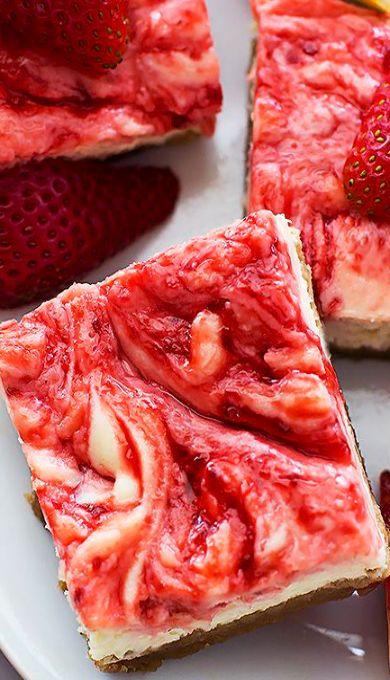 strawberry lemon cheesecake bars lemon cheesecake bars cheese recipes ...