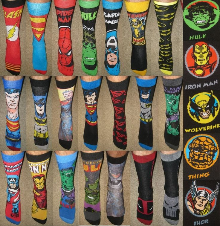Groomsmen Gifts COOL UNIQUE Wedding Party Gifts Men's Super Hero Bachelor Socks #MarvelDCComics #Casual