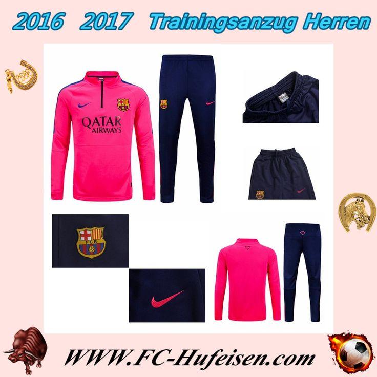 Klassiker Neue Trainingsanzüge Fussball Herren Kits FC Barcelona Rosa Seson 2015 2016 Günstig Sale