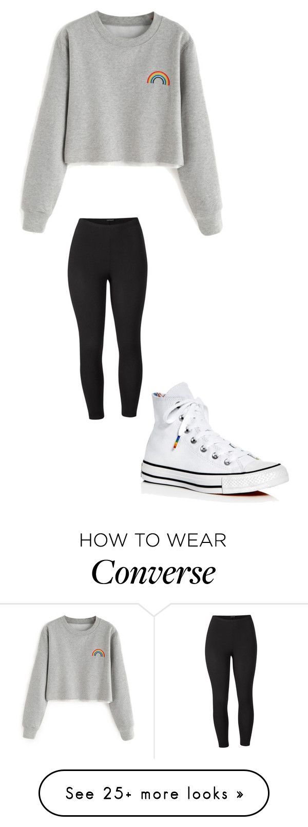 """Untitled #410"" by kaleyhanson on Polyvore featuring Converse, Venus and plus size clothing"