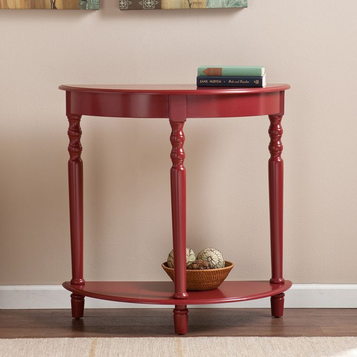 Southern Enterprises, Inc CM9177 Tyra Demilune Table   Red