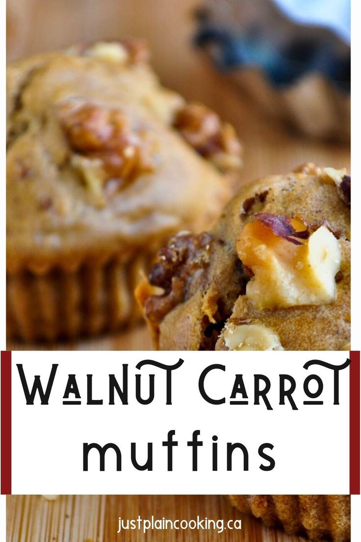 Jun 7, 2020 – These Carrot Walnut Muffins with raisins and spices are great for breakfast or a snack. Vegan, with nuts,…