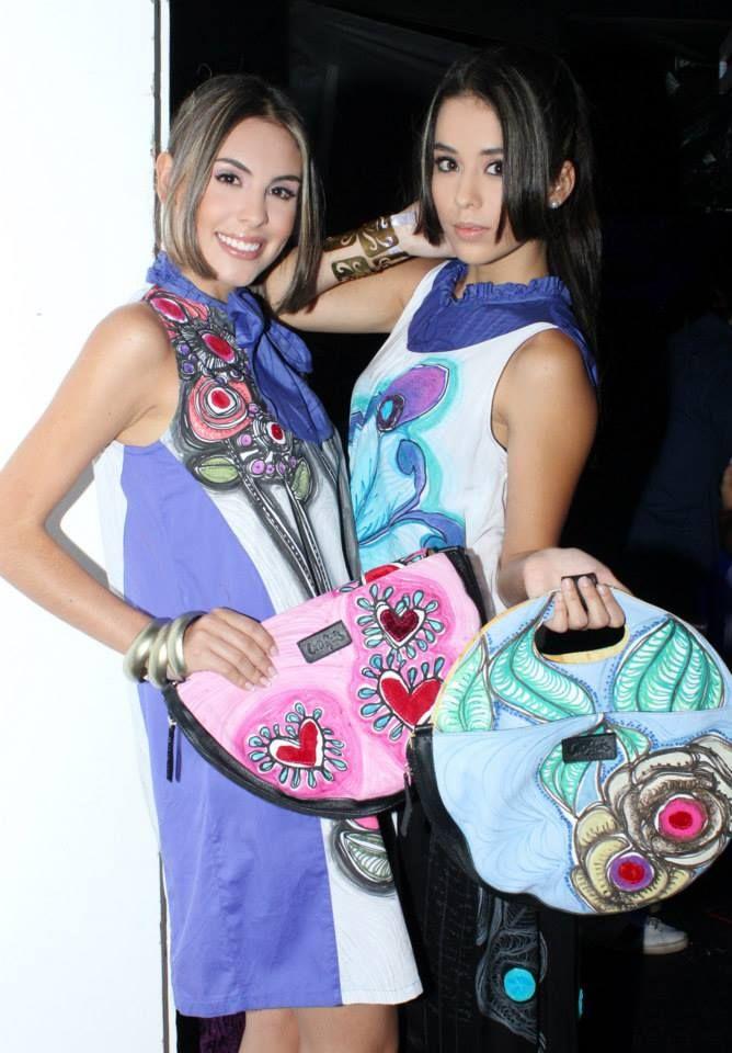 Vestido Vivi + Blusa Salome + Bolso Rocca, piezas pintadas a mano!