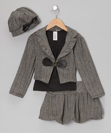 Take a look at this Gray Jacket Set by Just Kids on #zulily today!