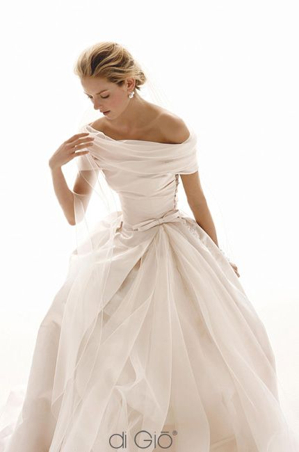 I adore this serene neckline, this looks like a true depiction of a Cinderella dress