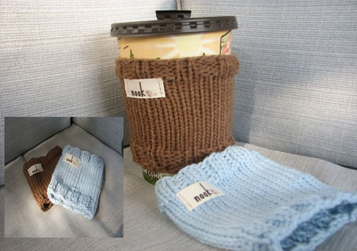 Knit coffee cup sleeve tutorial Projects I want to try Pinterest