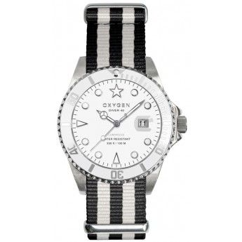 Reloj de Rayas Blanco y Negro de la marca francesa Oxygen modelo White Bear 40. http://www.tutunca.es/reloj-blanco-y-negro-oxygen-white-bear-40