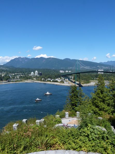 View from Stanley Park over the Lions Gate Bridge, Vancouver  Vancouver is number one of my five favourite places that I will definitely revisit, read my post to find out the rest http://bit.ly/1srMsyn via The World on my Necklace