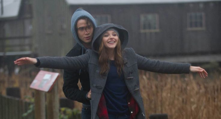 Entertainment Weekly shared a new still from If I Stay that featured Mia (Chloë Grace Moretz) and Adam (Jamie Blackley) happily skateboarding together. However, it was originally released in a lowe...