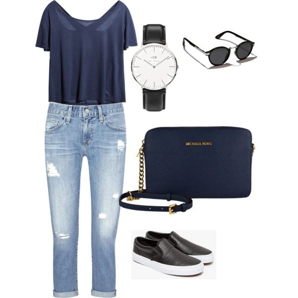 Untitled #18 by savira-maulana on Polyvore featuring polyvore, fashion, style, AG Adriano Goldschmied, Vans, Daniel Wellington and Abercrombie & Fitch
