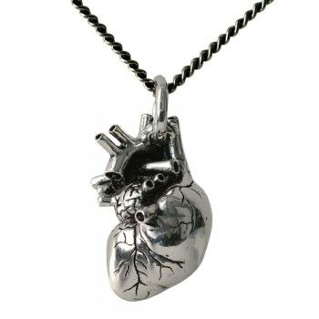 Anatomical Heart Necklace- Perfect for my husband who loves human biology!