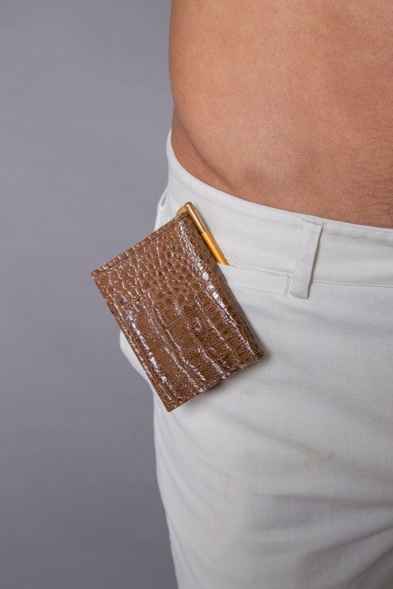 leather wallet  slim croco wallet  python wallet  SALE by JUDtlv