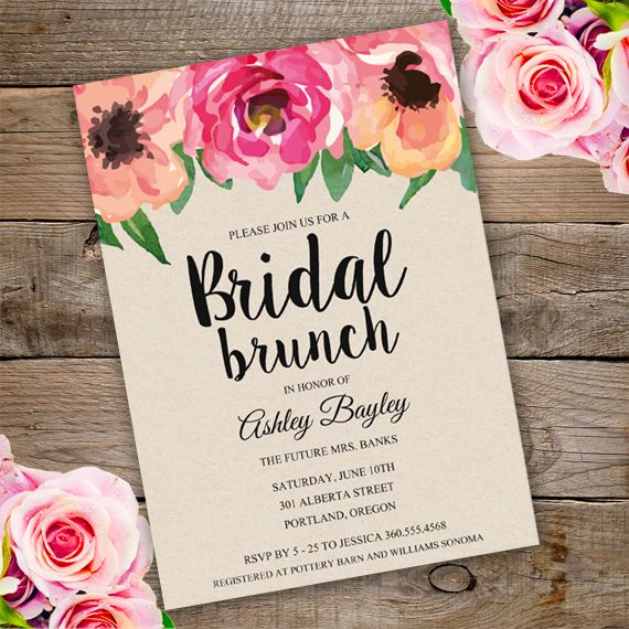 23 best Bridal shower invitations templates images on Pinterest - bridal shower invites templates
