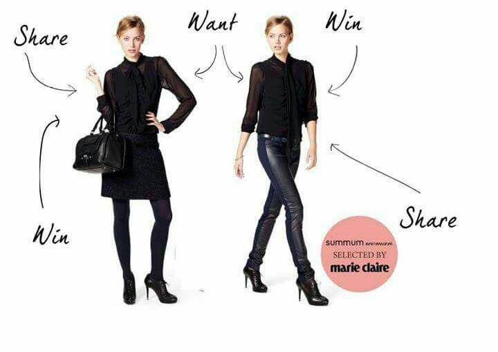 Summum blouse blauw met blauw/zwart leren broek