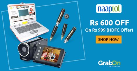 Hot Festive Offer @ #Naaptol. Flat Rs 600 Off On Rs 999 On HDFC Cards. http://www.grabon.in/naaptol-coupons/