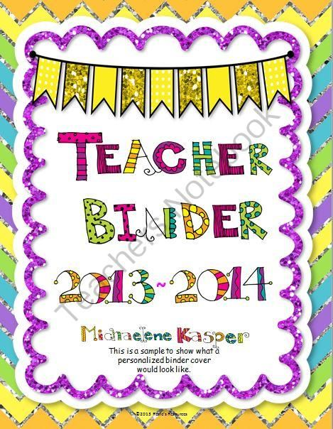 Teacher Binder from Rosies Resources on TeachersNotebook.com (60 pages)  - Here's a cute Teacher Binder with blingy glitter graphics to keep you smiling and organized all year. Student data pages are editable.  Bonuses include Meet the Teacher Welcome sign and sign-in sheet and student sign-out sheets.  All for a the great