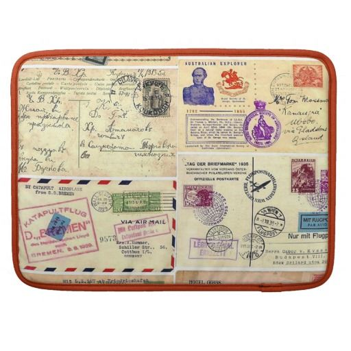 Vintage Travel Postcards Sleeve For MacBooks