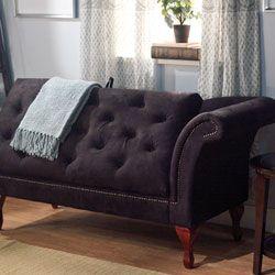Black Storage Chaise